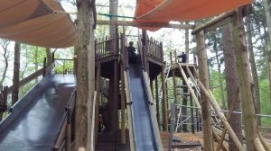 One of the high slides.  Even I found these quite exciting to go on!